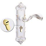 厂家锁批发 五金锁具 象牙白室内实木门锁 卧室门锁 铝合金执手锁