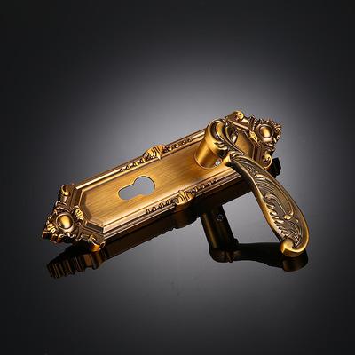 厂家定制 锌合金室内门锁HM13-120K 黄古铜执手锁 5845门锁拉手锁